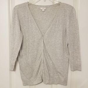 BP 3/4 sleeve light grey cardigan